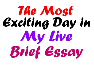 The Most Exciting Day in My life Brief Essay