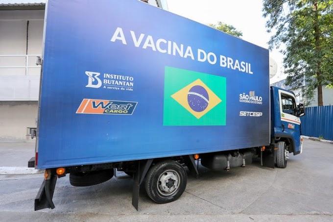 SP chega a 41,4 milhões de doses da vacina do Butantan entregues aos brasileiros