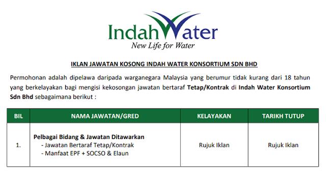job indah water konsortium