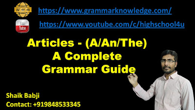 Articles - Definite and Indefinite Articles (A/An/The) A Complete Grammar Guide