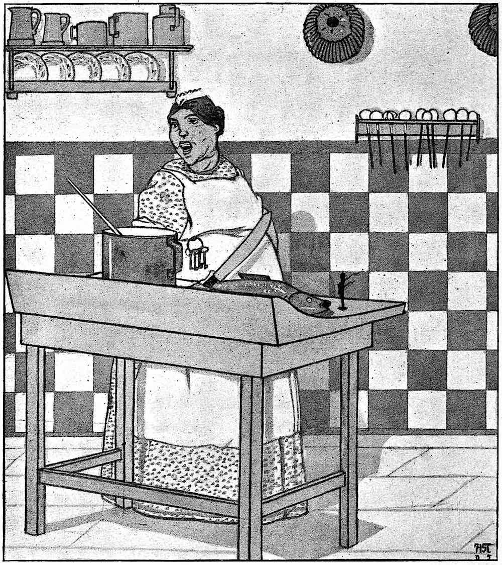 a 1906 woman chef illustration