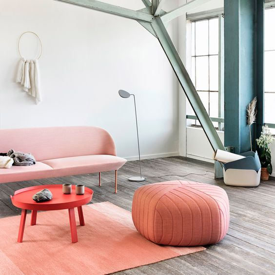 Loving that quilted pouf from muuto