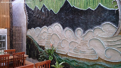 cafe by the ruins chuntug baguio interior wall art