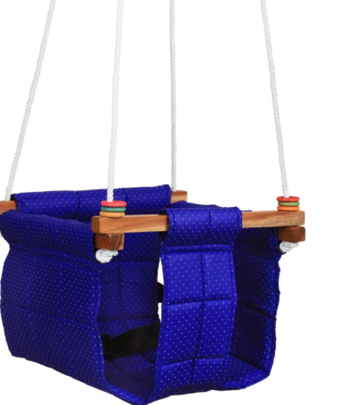 Ashish Swing for Kids | jhula for Kids | Kids Swing | Baby Swing Indoor/Outdoor | jhula for Baby | Baby Garden Swing | Baby Hanging Swing | Baby Cradle | Baby Toddler 8-36 Months (Blue)