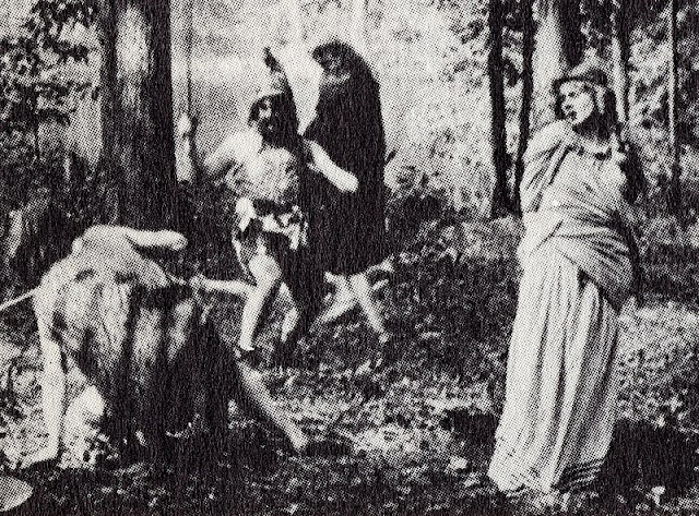 Silent picture still of Florence Lawrence in 'Ingomar the barbarian' (1908)