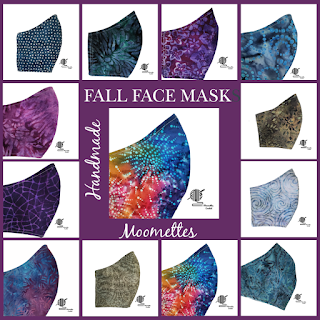 Handmade Batik Face Masks for Fall