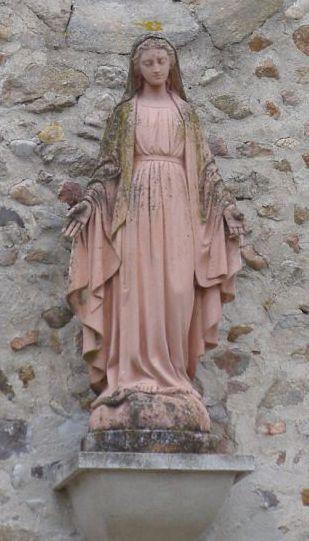 Statue de Sainte Agathe - église de Sainte Agathe la Bouteresse /©photo F.Défrade