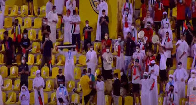 جماهير الإمارات تحتفل بالفوز على تايلاند
