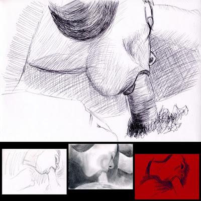 erotic drawing fellatio blowjob