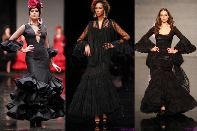 Vestidos de flamenca básicos negros