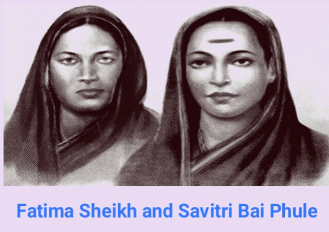 Savitribai phule and Fatima sheikh