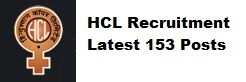 HCL Recruitment 2016 – 153 Apply for Management Trainee & Specialist Officers Posts