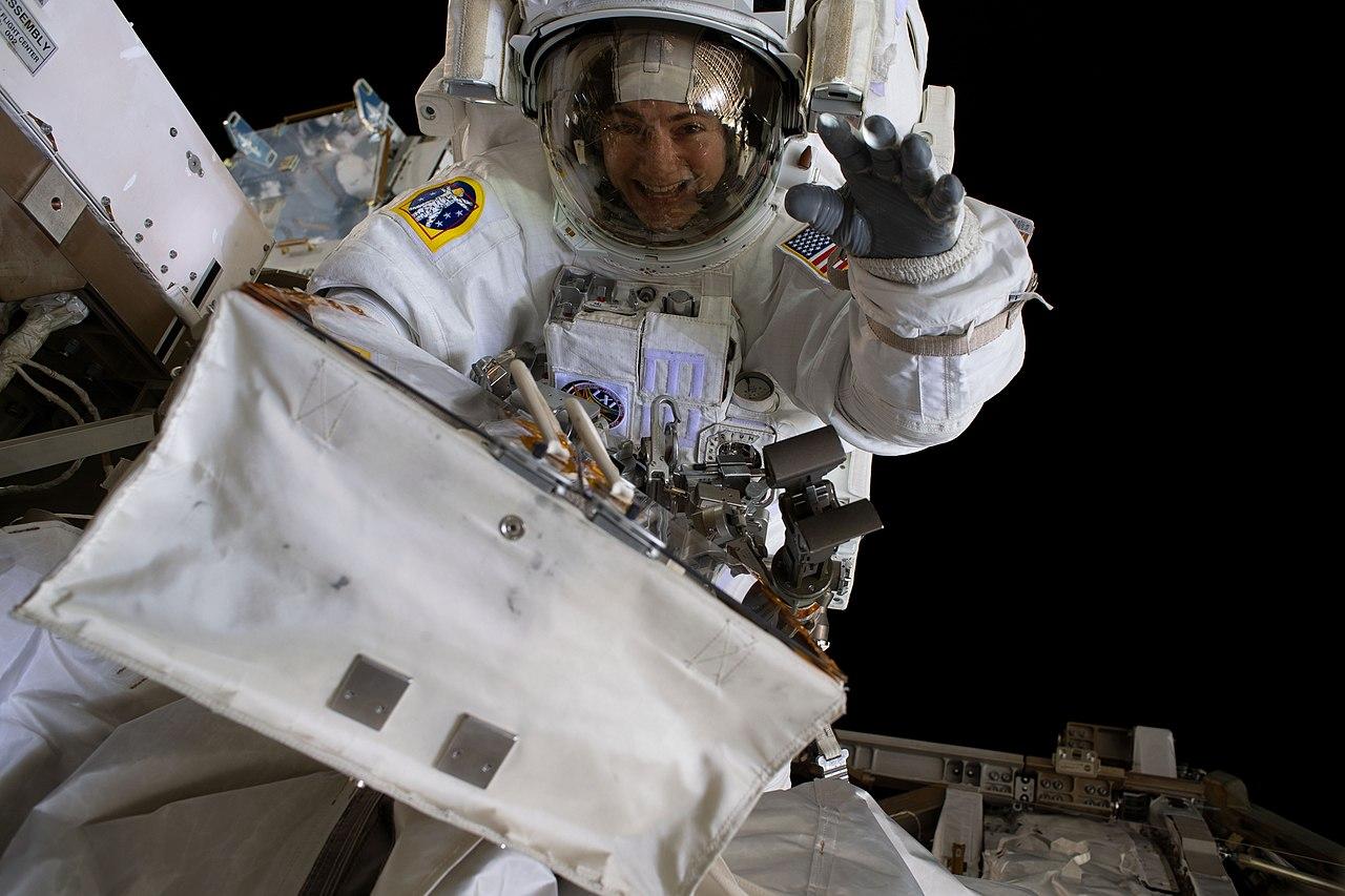 Astronautin machte coolstes Selfie ever   Trash Knowledge aus dem All