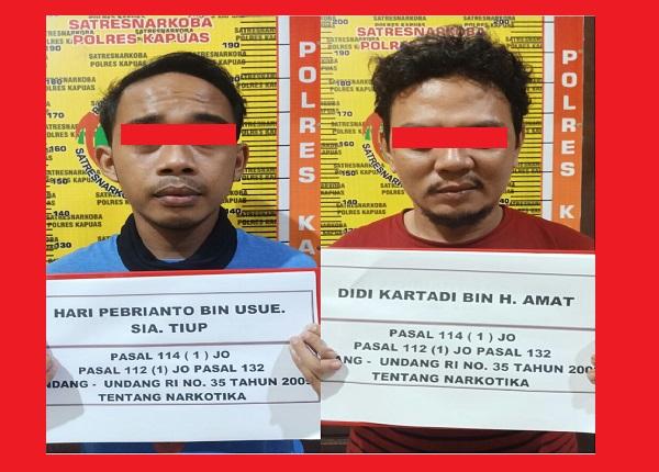Dua Budak Sabu Diamankan Satresnarkoba Polres Kapuas