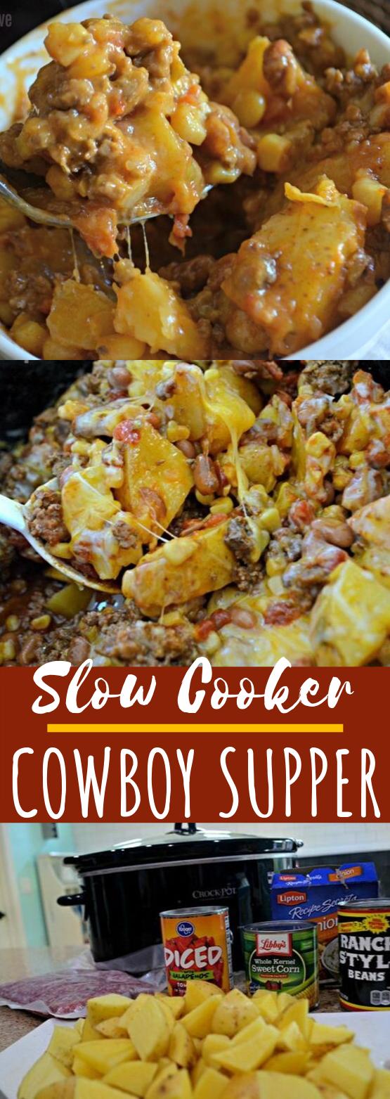 Slow Cooker Cowboy Supper #dinner #slowcooker