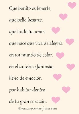 versos y poemas bonitos