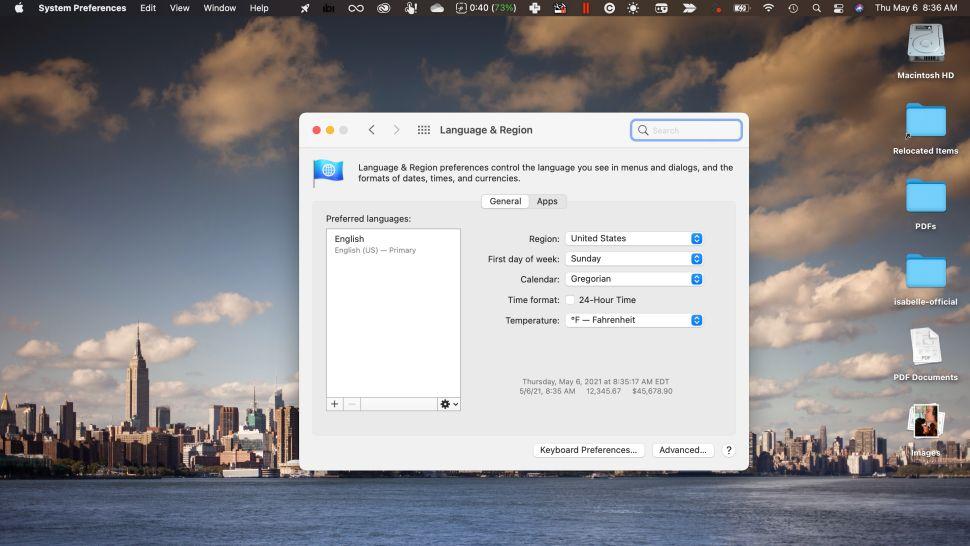 Cách thêm hoặc đổi ngôn ngữ trên máy tính Macbook