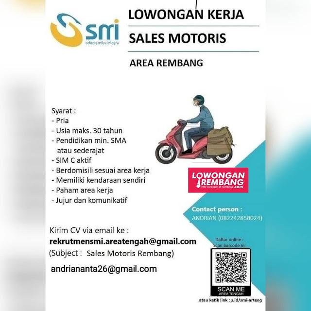 Lowongan Kerja Sales Motoris Selaras Mitra Integra Area Rembang