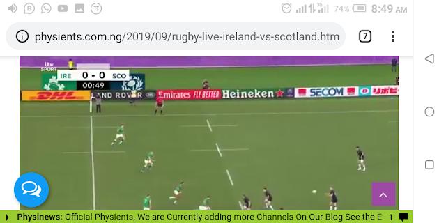🏉 Rugby Live Ireland Vs Scotland