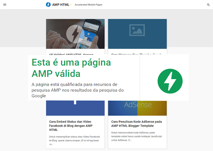 Amp Blogger template download