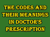 what are the codes and their meanings in Doctor's prescription
