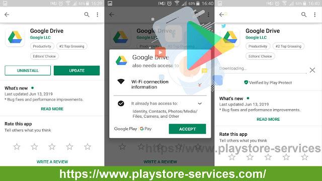 تحديث تطبيقات Android على Google Play