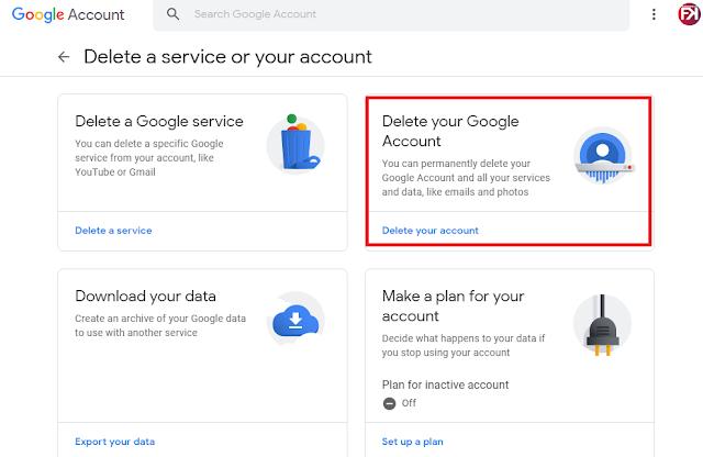 langkah-langkah menghapus akun google secara permanen