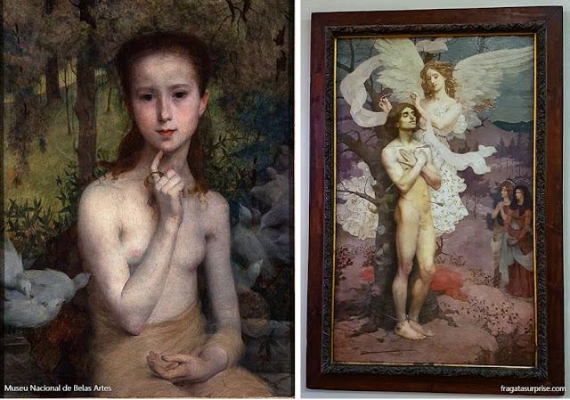 """Eliseu Visconti - """"Gioventù"""" e """"Recompensa de São Sebastião"""", Museu Nacional de Belas Artes"""