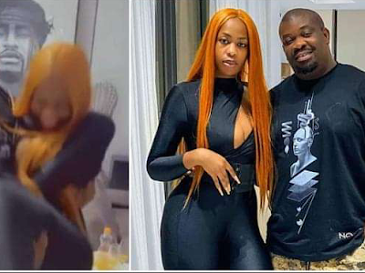 I'm a Strong Man: Don Jazzy Declares, Carries 95kg Thick Slay Queen As Weight Lift, Fans React