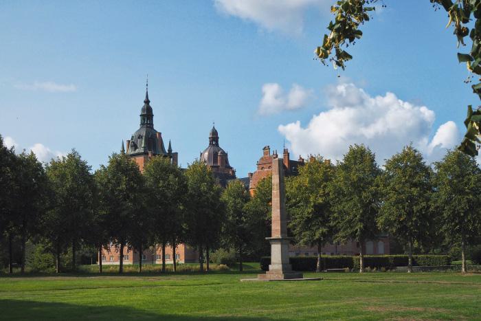Parc du château Vallø slot au Danemark