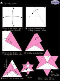 origami de Papai Noel em formato de estrela, ela serve também para enfeite natalino de arvore de natal.