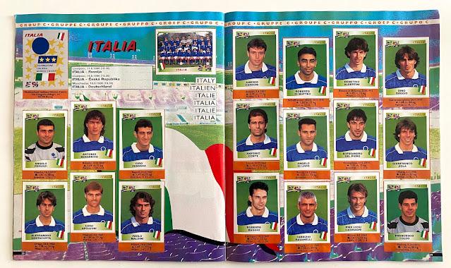Figurine Euro 96 italia