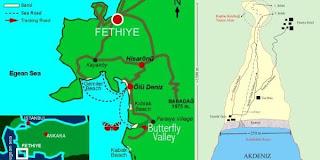kelebekler vadisi fethiye haritası ile ilgili görsel sonucu