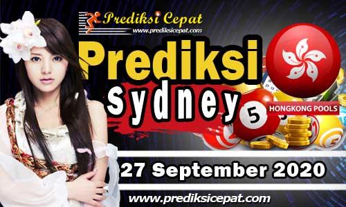Prediksi Togel Sydney 27 September 2020