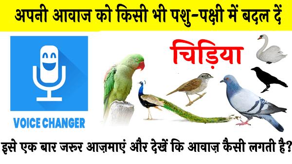 जानवर या पक्षी की आवाज में अपनी आवाज बदलें