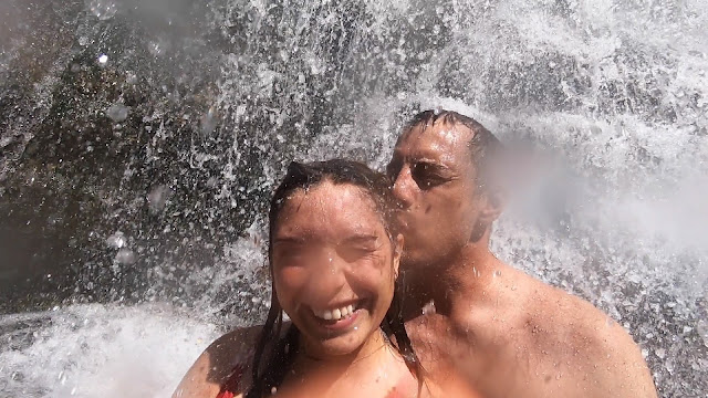 Swimming Area Lower Falls Gorge Trail Robert H. Trehman State Park Swim Under Waterfall