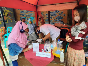Tak Hanya Warga Diperhatikan, Dinas KPKP Buka Layanan Kesehatan Hewan Terdampak Banjir