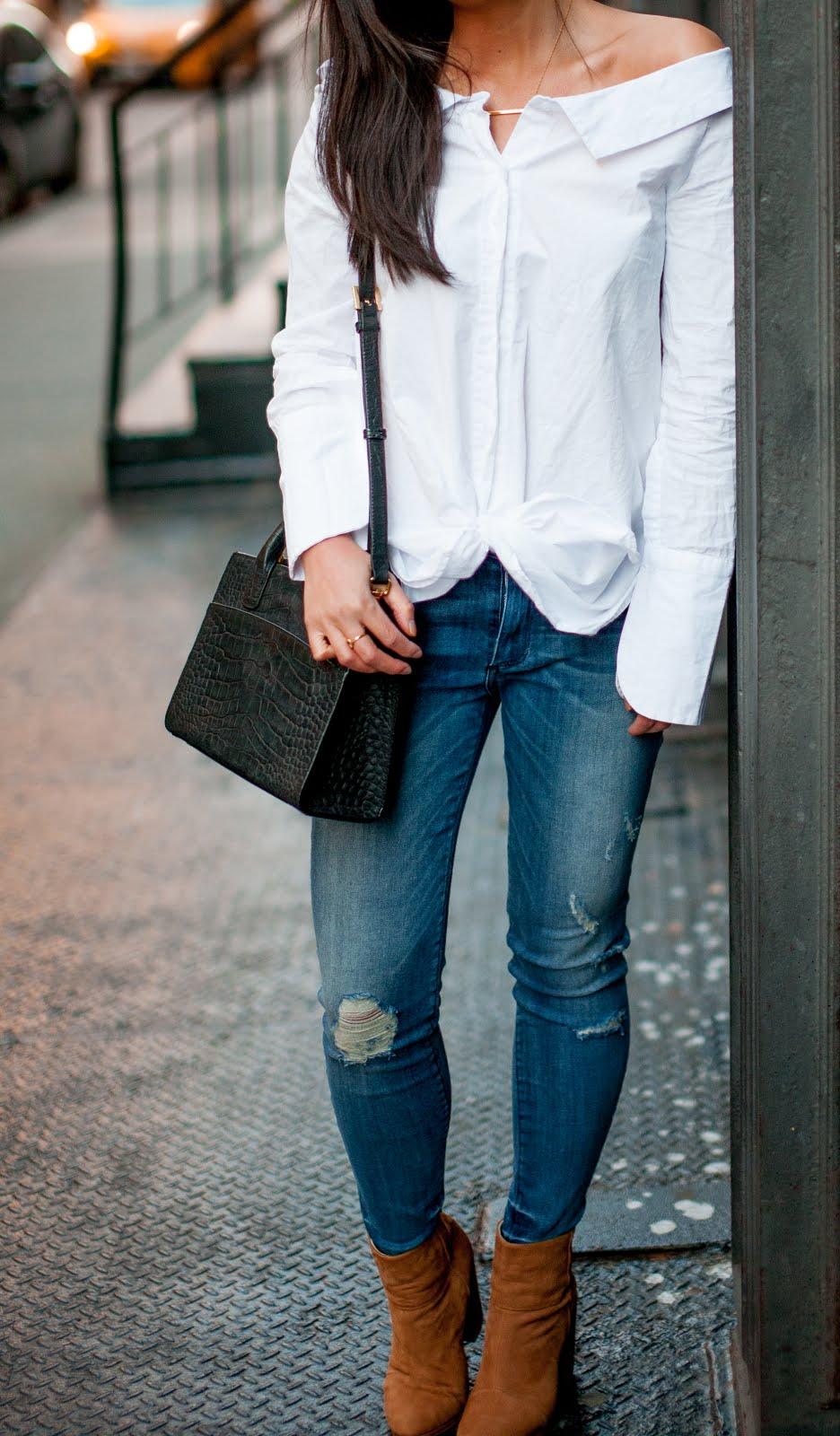 off the shoulder shirt snapshots of my closet fashion blogger