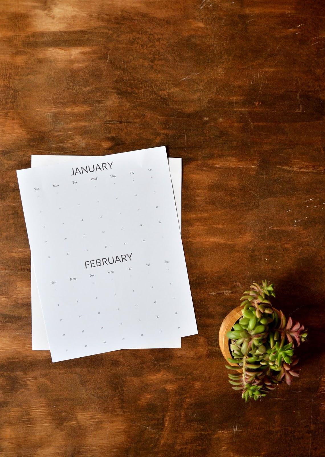 free modern printable 2020 calendar