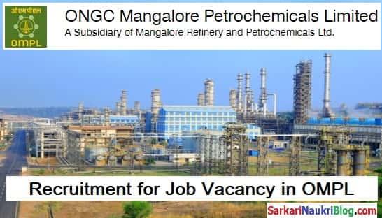 OMPL Job vacancy Recruitment