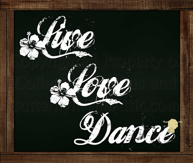 Live Love Dance - Chalkboard Messages