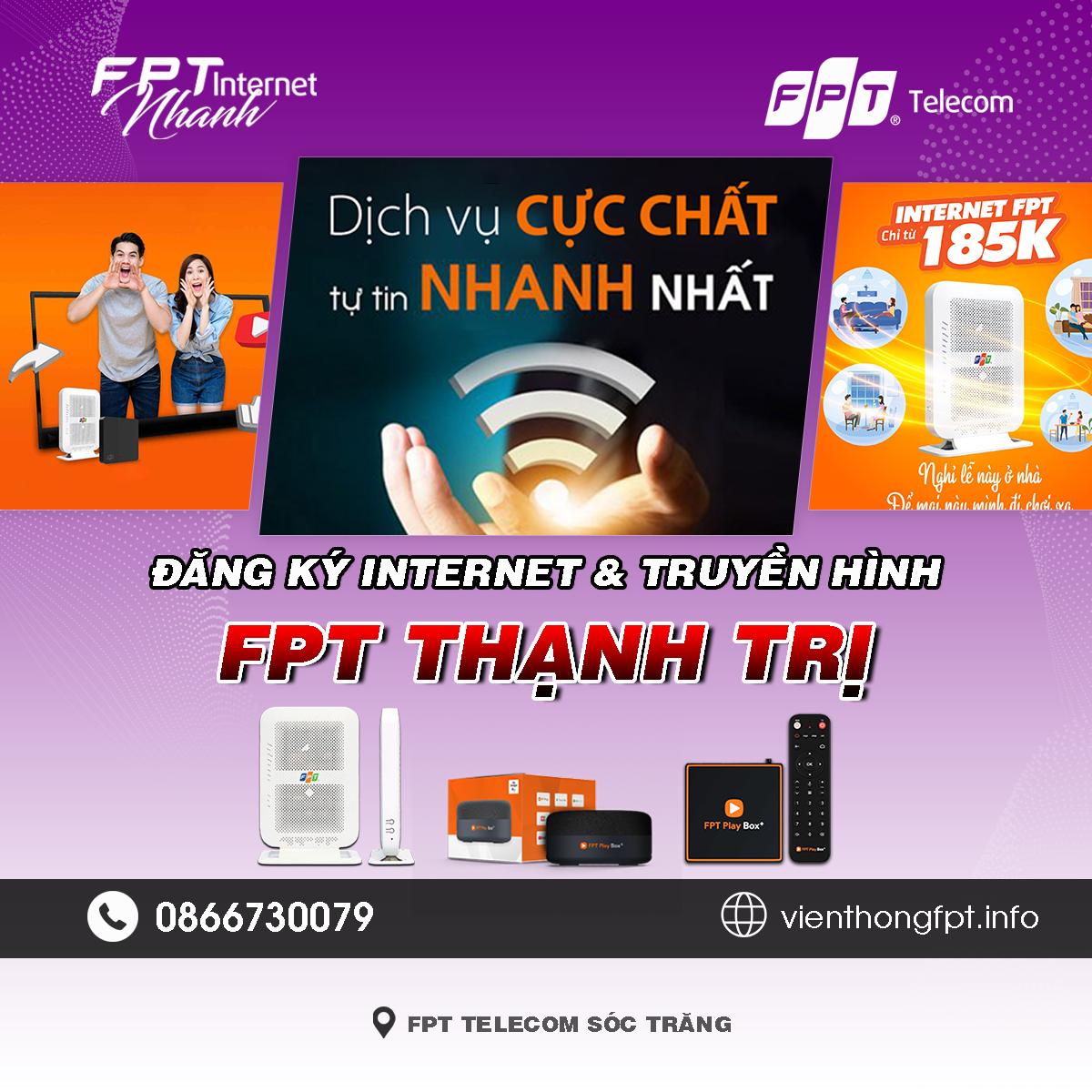Tổng đài FPT Thạnh Trị - Đơn vị lắp mạng Internet và Truyền hình FPT