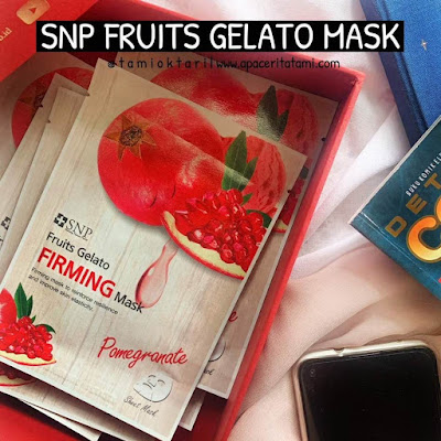 [REVIEW] SNP Fruits Gelato Firming Mask - Pomegranate