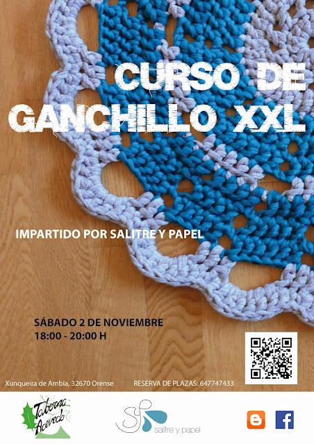 Cartel curso ganchillo xxl