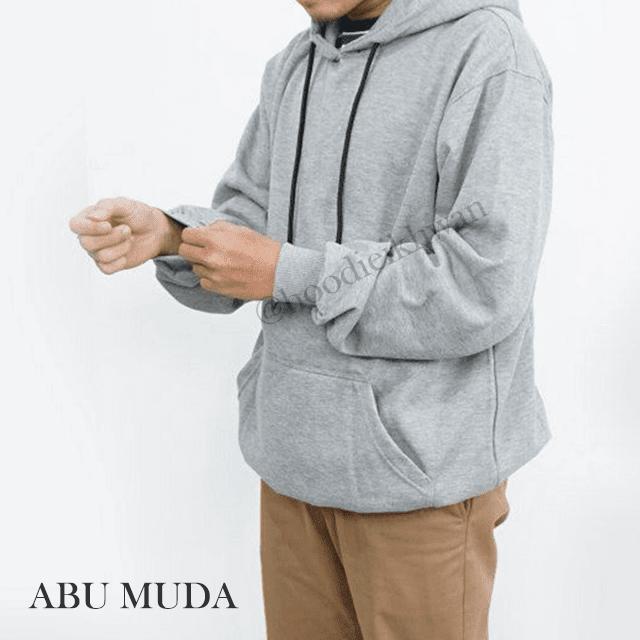 Hoodie Polos Abu Muda