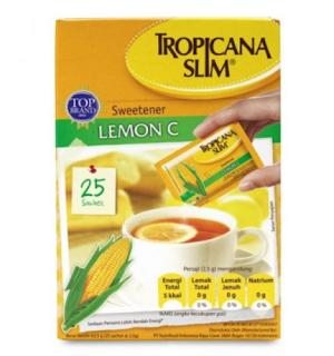 Tropicana Slim Sweetener Lemon C Rekomendasi Gula untuk Diet yang Rendah Kalori