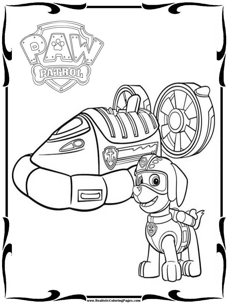 Printable Coloring Pages For Paw