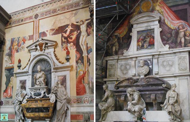 Tumbas en el interior de Santa Croce
