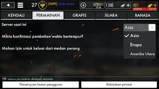 Mengatur Server permainan ke Asia
