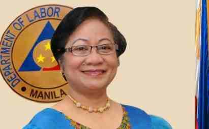 DOLE file photo outgoing Secretary Rosalinda Baldoz